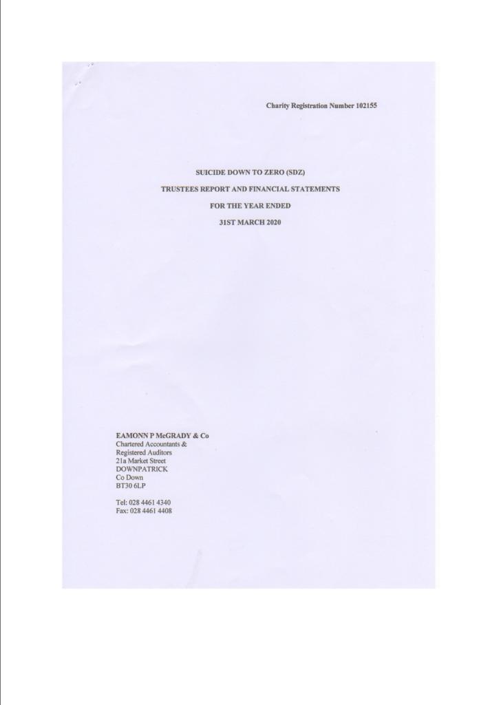 Suicide-Down-to-Zero-Trustees-Annual-Report